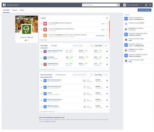 Facebookのビジネスマネージャについて